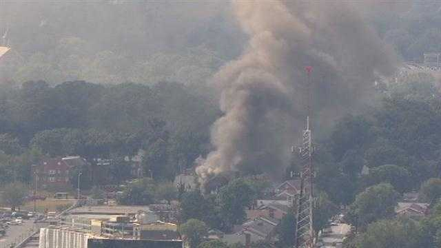 Smoke from a fire at a church in northeast Baltimore could been seen from miles away, SkyTeam 11 reports.