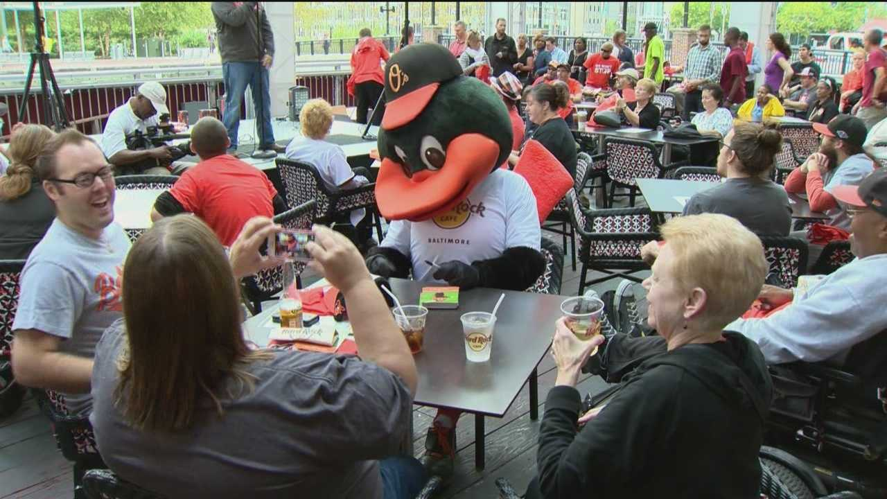 Baltimore Orioles fans are rallying for the American League East champs throughout Maryland as the team holds rallies.
