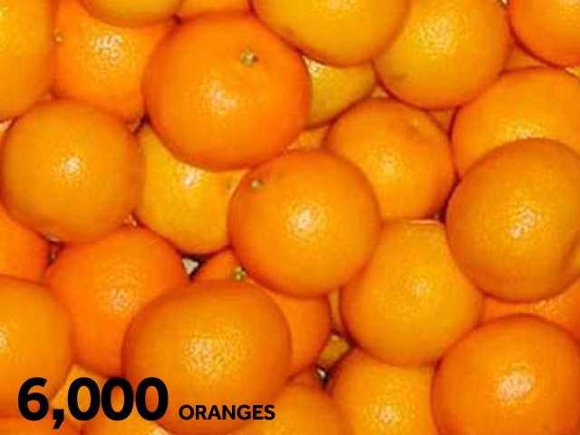 6,000 oranges