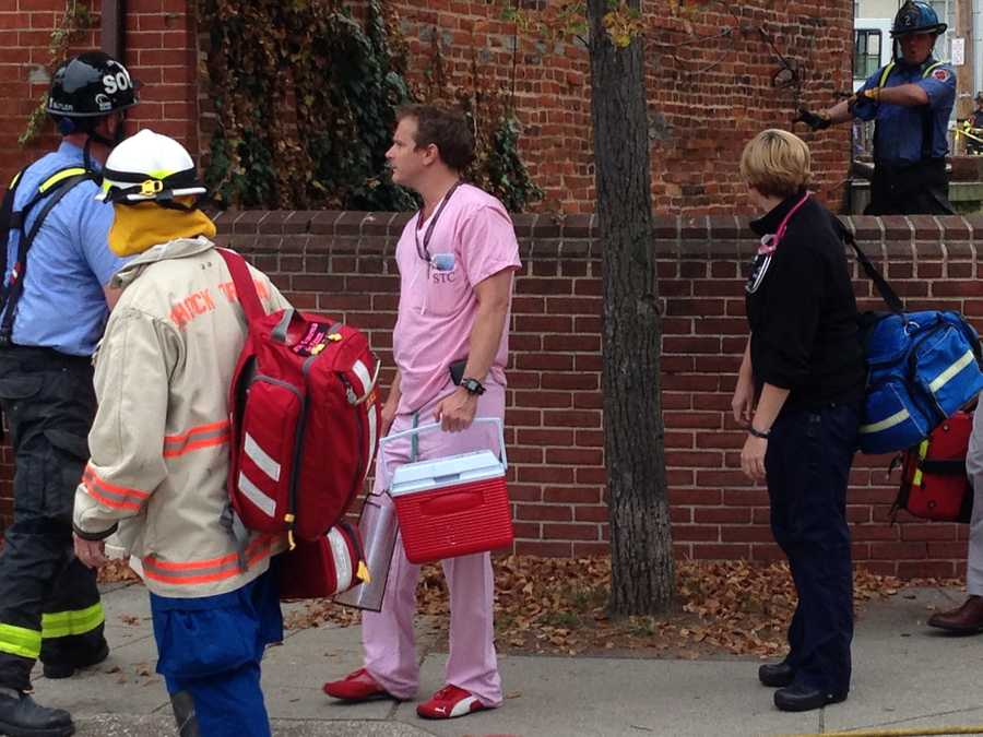 University of Maryland doctor at the scene of the building collapse.