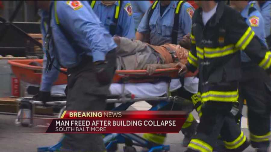 Crews were able to rescue the man around 4:30 p.m.