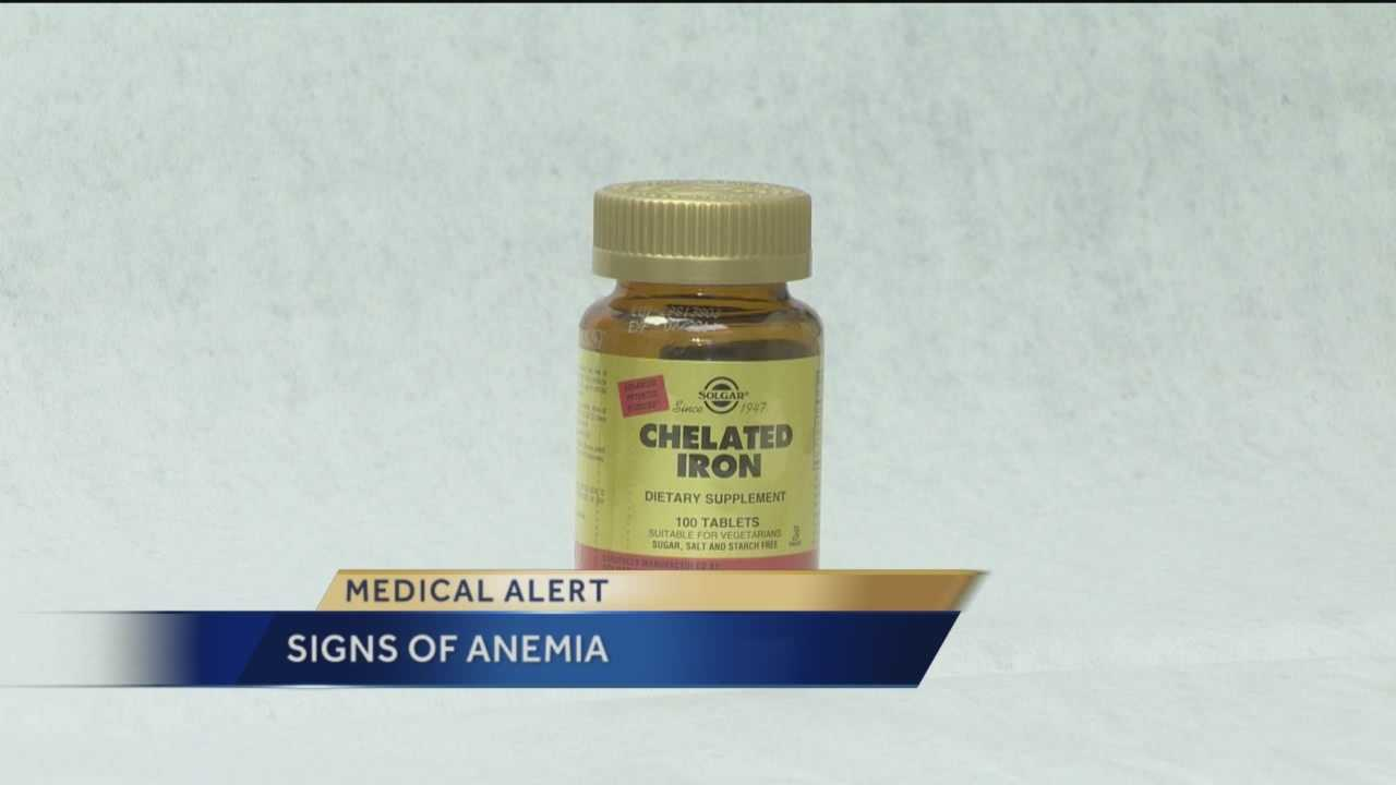 Anemia means a person has a low red blood cell count. There are some common symptoms to look for, including shortness of breath, fatigue and overall weakness, but Mercy Medical Center's Dr. Jonathan Rich said there can be some unusual symptoms too.