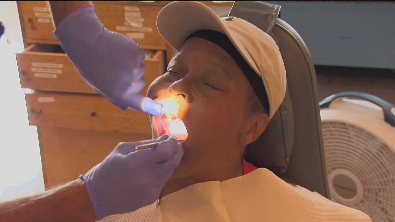 A free dental care clinic quickly filled up slots to treat adults in need.
