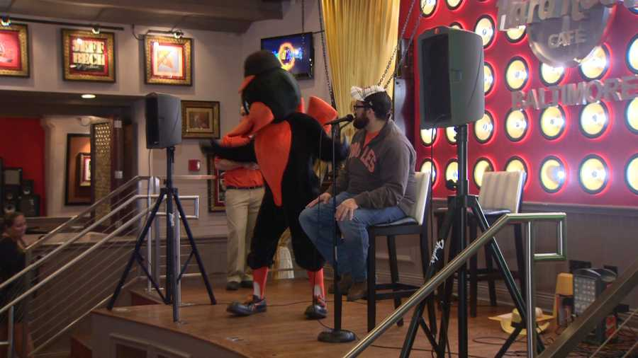 The Oriole Bird showed up to entertain at that rally, too.