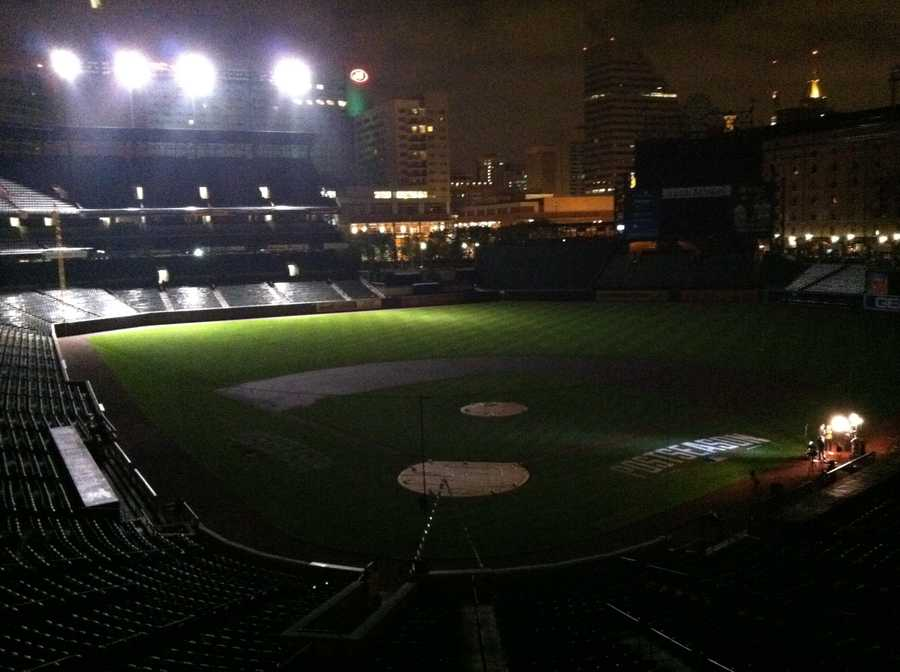 A view of the field early Thursday morning.