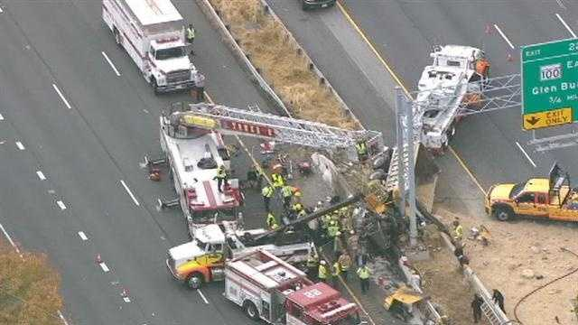The truck was the only vehicle involved in the crash.