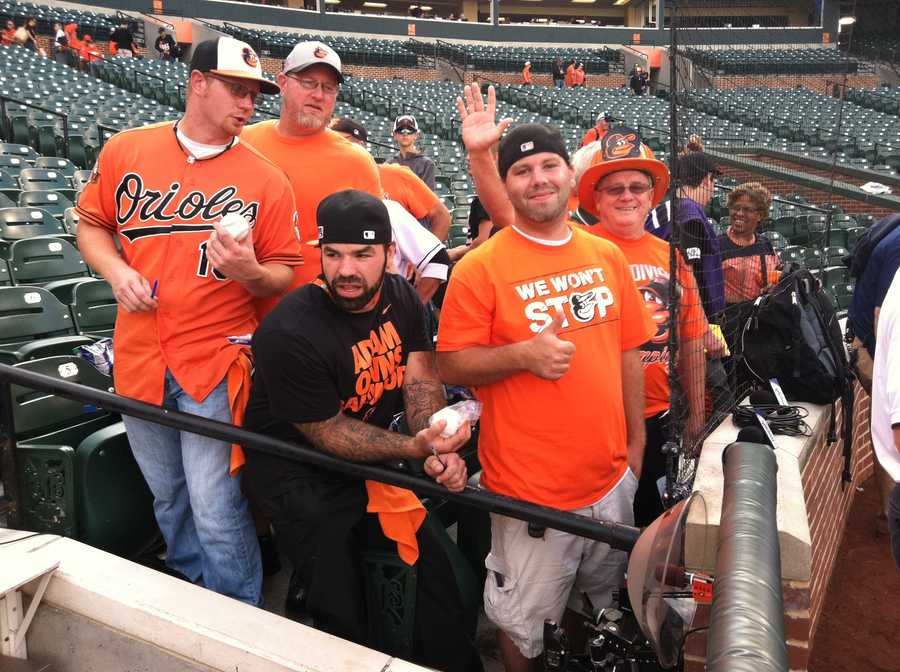 First arrivals at OPACY for Game 1 of the ALDS
