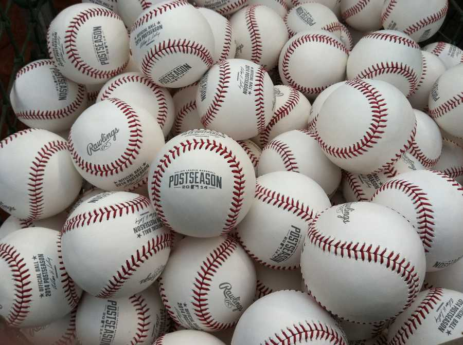 ALDS playoff baseballs