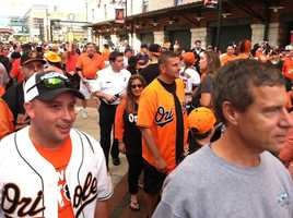 Eutaw Street entrance packed with fans