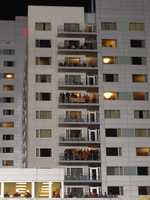 Orioles fans pack the Hilton Hotel balconies