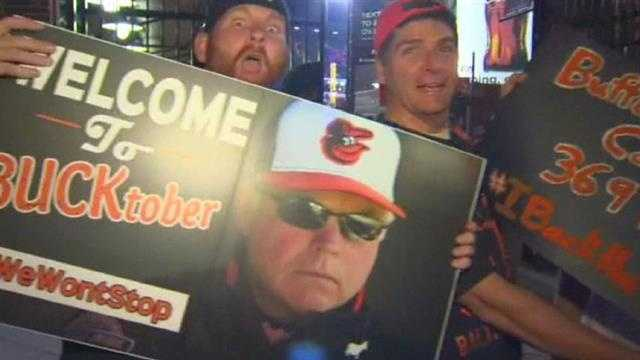 Orioles fans are elated after the team's ALDS Game 1 blowout over the Detroit Tigers.