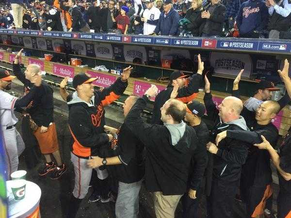 Buck's first-ever playoff series win. Britton says that's hard to believe.