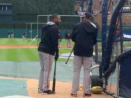 Delmon Young still smiling into BP