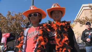 Decked-out fans gathered everywhere to see if the Orioles could manage a sweep of the Detroit Tigers in game 3 of the ALDS.