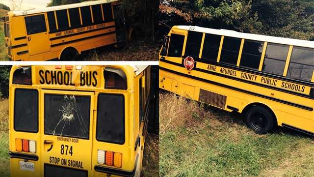 Police say they found the stolen school bus in a secluded area of Davidsonville.