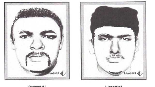 Police release sketches of two men wanted in connection with an armed robbery on the campus of McDaniel College.
