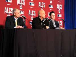 Mike Bordick, Cal Ripken and Brady Anderson, three members of the 1997 Orioles ALCS team talking about this year's ALCS Orioles at Camden Yards.