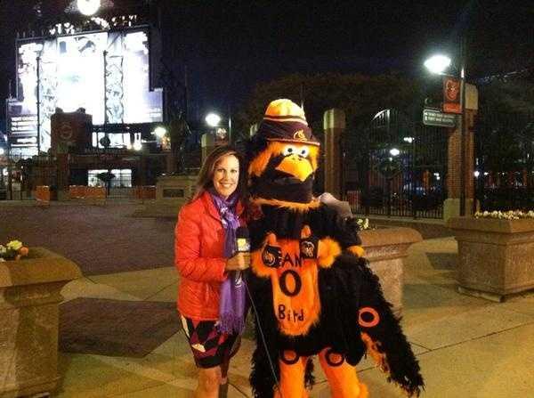 More shots of Jen and the Oriole Fan Bird