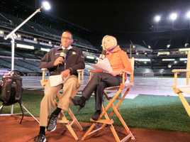 Jason and Mindy broadcast live Friday morning from Camden Yards ahead of Game 1 of the ALCS.