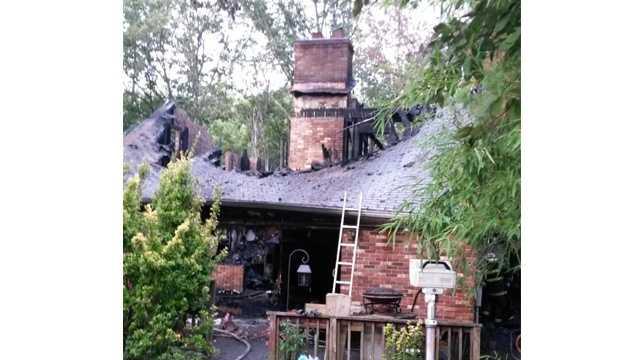 Lusby fatal fire scene