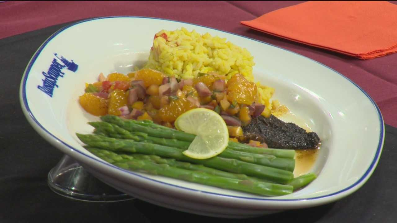 Rusty Scupper's Mark Miranda shows how to make Blackened Orange Roughy with Orange Salsa