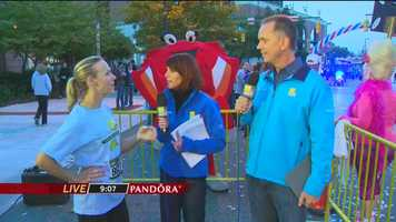 11 News traffic reporter Sarah Caldwell finds out she's taking on the hardest leg of the marathon's relay, so Gerry gives her some tips to make it through.
