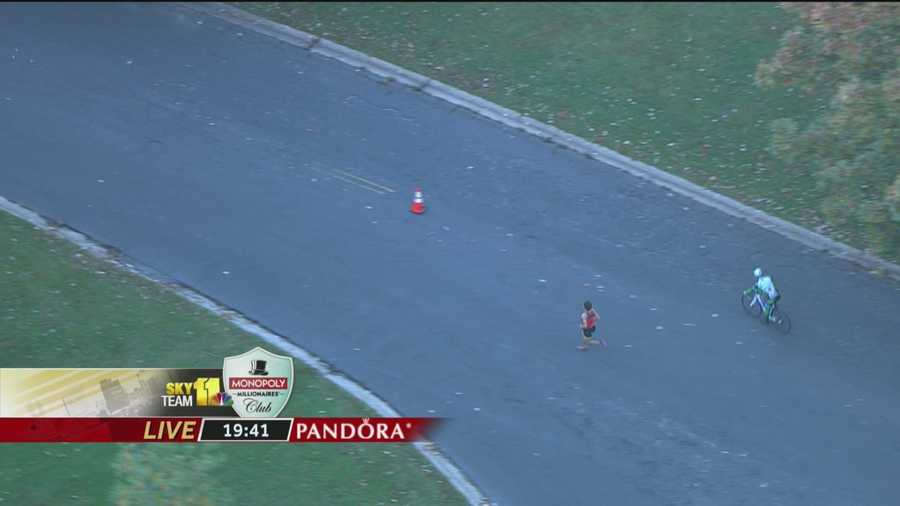 Dave Berdan is by himself at Mile 3.