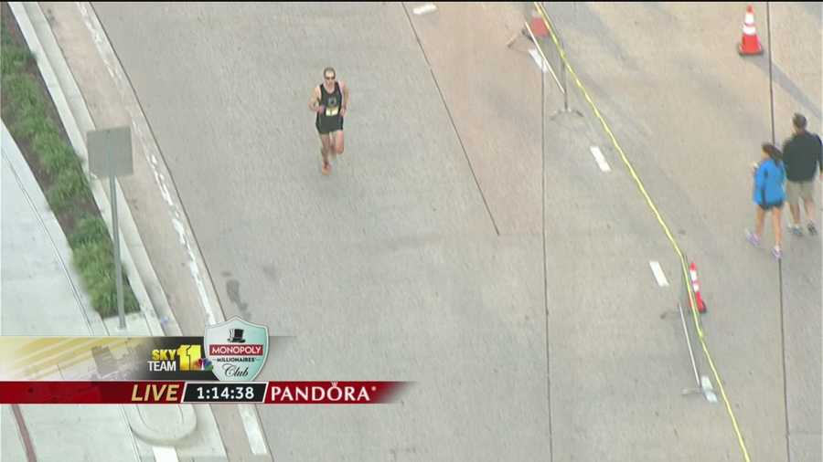Brian Rosenberg officially takes over the race at Mile 12, as Berdan drops back pretty far.