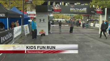 Fun Run winner crosses the finish line