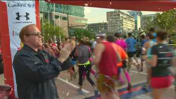 The Half Marathon is by far the biggest portion of the Baltimore Running Festival, with about 12,000 participants.