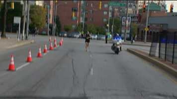 Rosenberg is alone at Mile 24, with only 2.2 more to go!