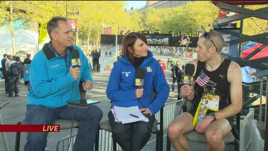 Brian Rosenberg, the winner of the 2014 Baltimore Marathon, sits down with Gerry and Kate to talk about his big win and what he and former winner Dave Berdan talked about when they met in the race.