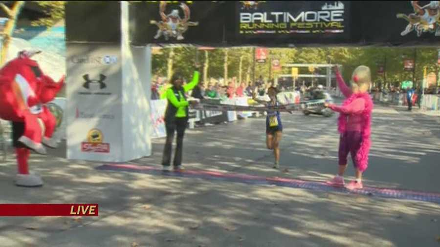 Wang crosses the finish line first!