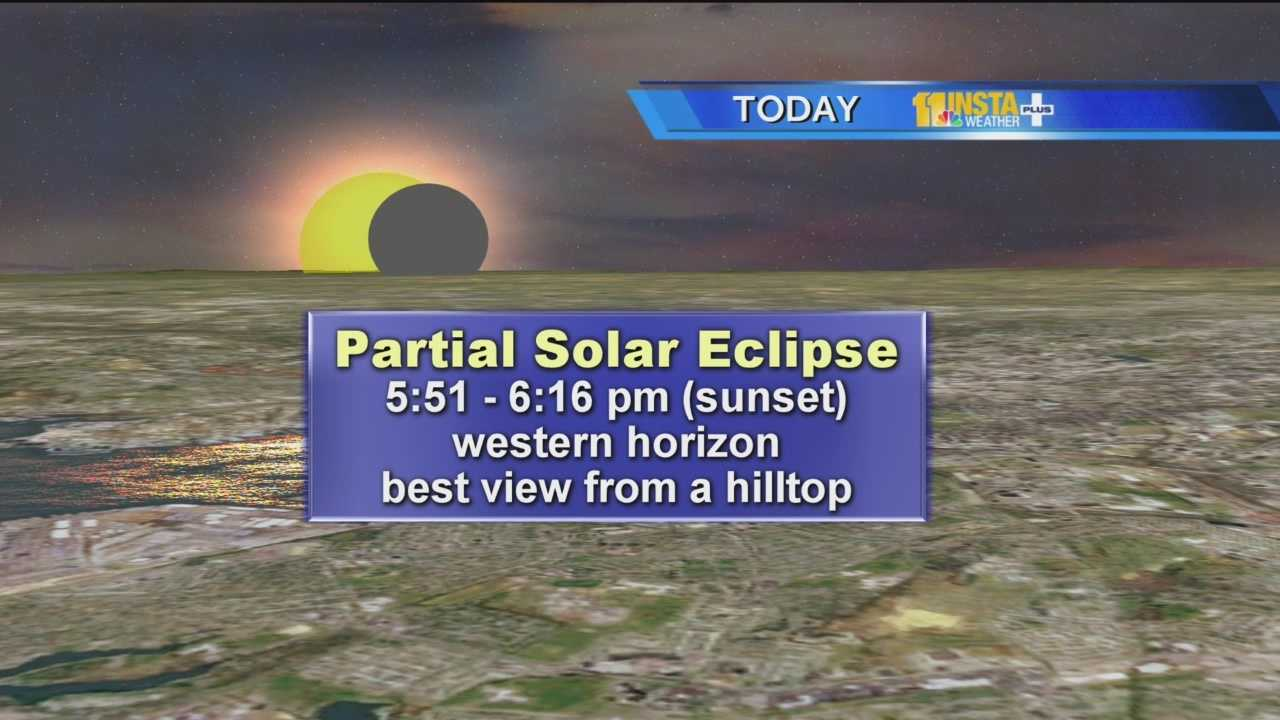 Ahead of the partial eclipse that's expected around 5:51 p.m. Thursday, Ava talks about how to prepare for it and how to see it without glasses, while Megan talks about a giant sunspot that can also be seen.