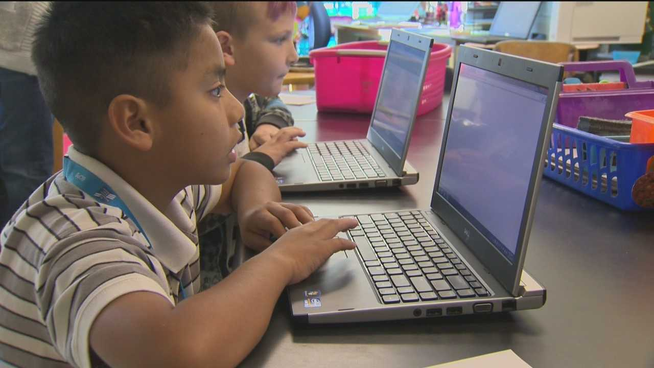 A Baltimore-based technology company created a website that is allowing elementary school students to accomplish academic feats usually reserved for high schoolers.