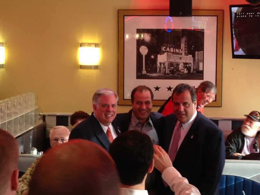 Hogan and Christie pose with more constituents.