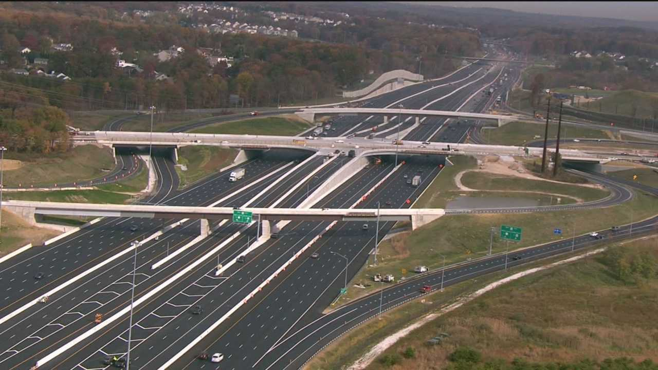 Road work at the interchange of Route 43 and Interstate 95 has been going on for seven years.