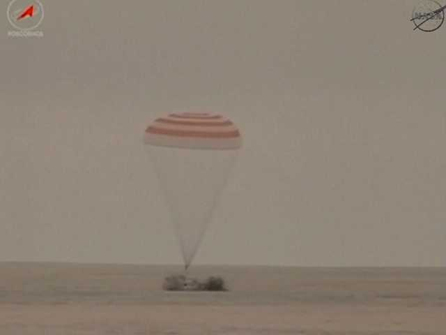 Wiseman and two other astronauts successfully landed in Kazakhstan at 10:58 p.m. Sunday Eastern Standard Time.