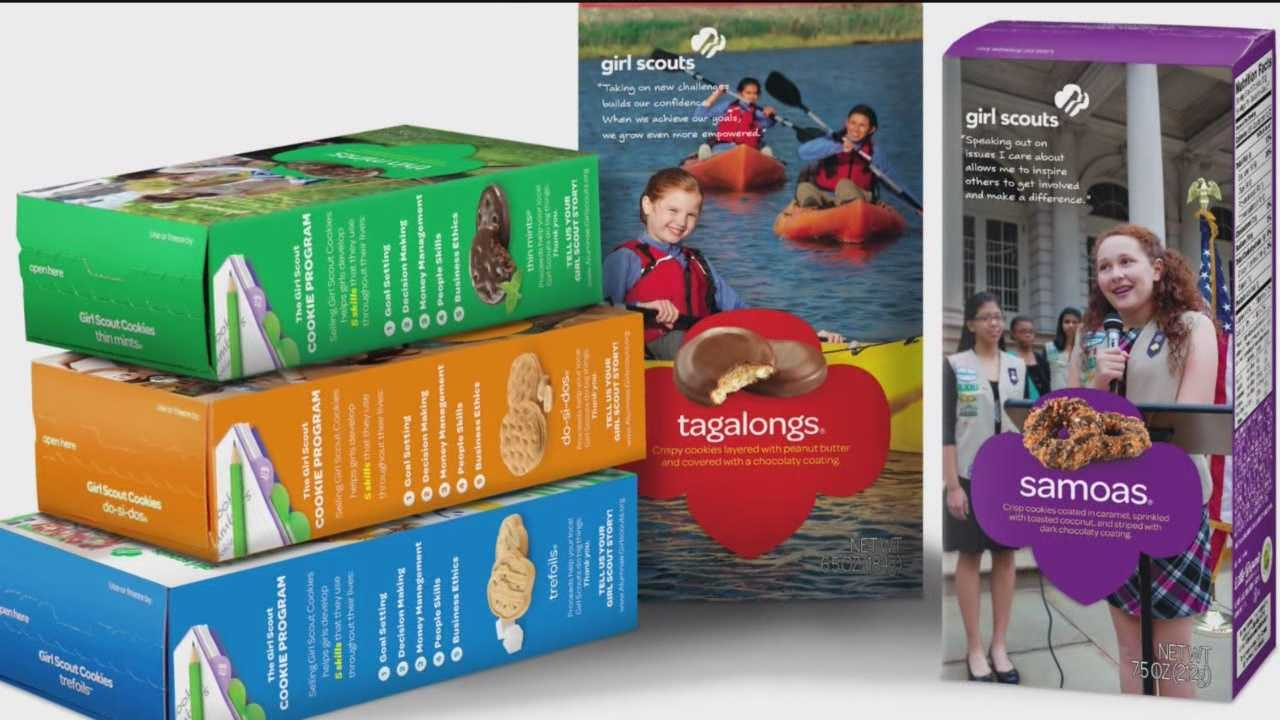 Two thieves tried to make off with a wagon full of Girl Scout cookies.