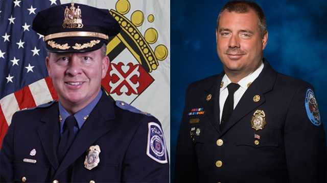 Anne Arundel County Police Chief Kevin Davis, Fire Chief Michael Cox