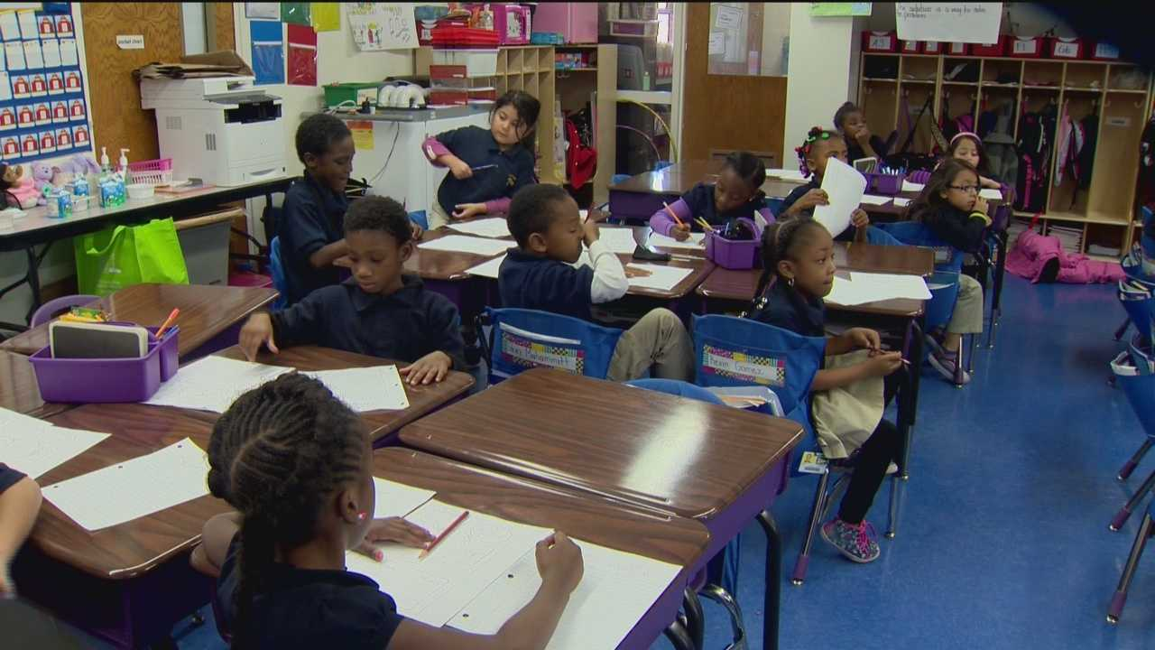 Some Baltimore school students are getting an early look at college life.