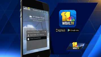 Check for closings and delays right in the WBAL Weather App. iTunes | GooglePlay