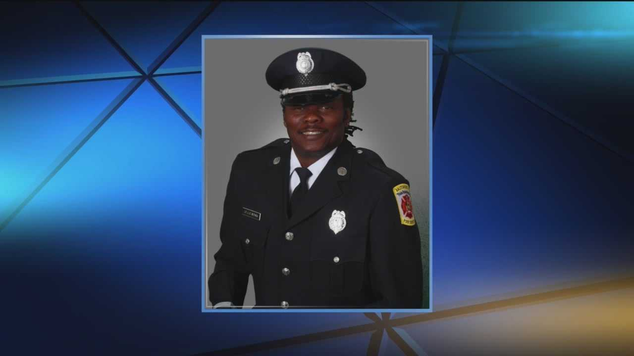 A Baltimore City fire safety officer Lt. James Bethea, who died while on duty last week, was laid to rest Thursday.