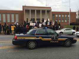 Morgan State Ferguson protest