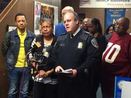 NAACP Baltimore Chapter, Casa de Maryland and Baltimore City police renew a call for peace.
