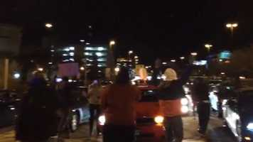 Protesters block JFX