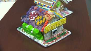 Megan Pringle's gingerbread house