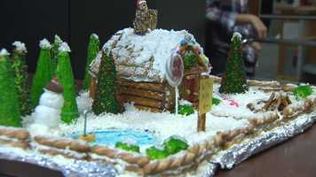 Mindy Basara's gingerbread house