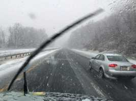 Roads were slick but passable in Baltimore County's Hereford Zone.