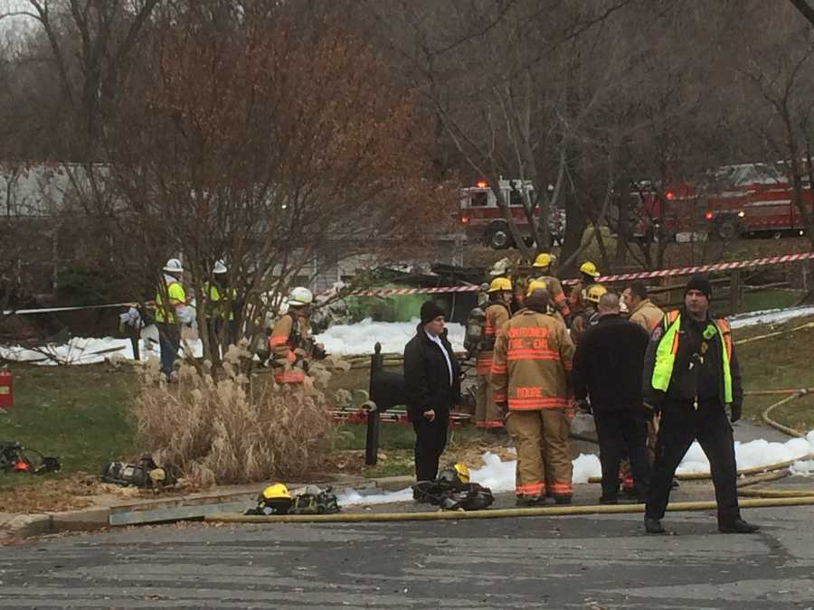 WBAL Radio's Scott Wykoff said this is what appears to be wreckage.